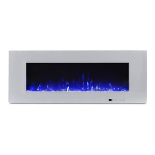 "Valuxhome Luxey 50"" 750W/1500W Wall Mounted Electric Fireplace"