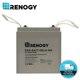 Renogy 260Ah 6V Deep Cycle Pure Gel Battery VRLA Battery PV Solar Energy Storage