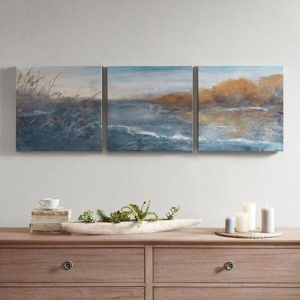 Madison Park River Side Multi Gel Coated Canvas Set of 3