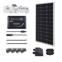 Renogy 100W 12V Solar Panel RV Kit 30A LCD Controller Camper Van Battery Charger