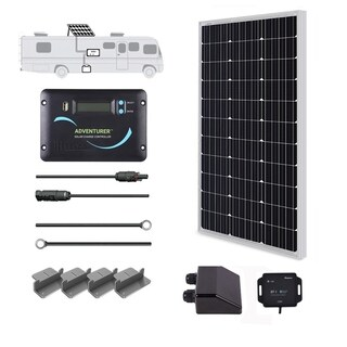 Renogy 100W 12V Solar Panel RV Kit 30A LCD Controller Camper Van Battery Charger