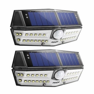 2 Pack Mpow 30 LED Solar Light Great Outdoor Light for Garden, Driveway, Yard, Garage, Pathway and Patio