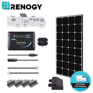Renogy 100W 12V Eclipse Mono Solar Panel RV Kit Camper Off Grid Battery Charger