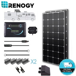 Renogy 200W 12V Eclipse Solar Panel Kit 30A LCD Controller RV Battery Charger