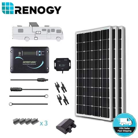 Renogy 300W Mono Solar Panel RV Kit 30A Controller 12V Off Grid Battery Charger
