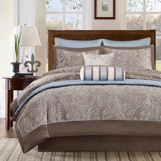 Madison Park Whitman Ivory 100 Percent Polyester Jacquard 8pcs Comforter  Set With One Bonus Coverlet