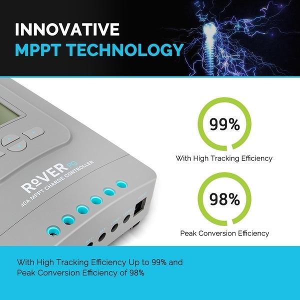 30A MPPT Solar Panel Charge Controller Renogy Rover PG 12V 24V Battery Regulator