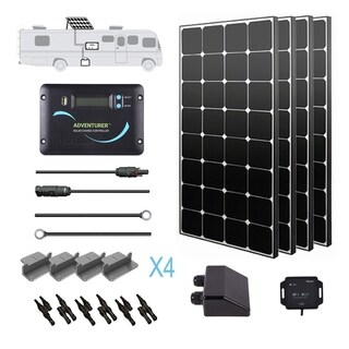 Renogy 400W 12V Eclipse Solar Panel RV Kit Off Grid Camper Van Battery Charger