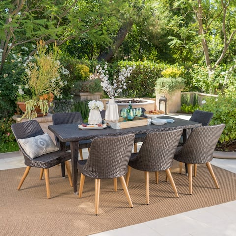 Jay Outdoor 9 Piece Wicker Dining Set