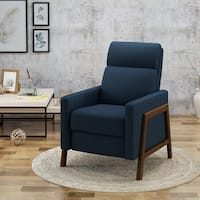Hadrian Mid Century Modern Fabric Recliner by Christopher Knight Home