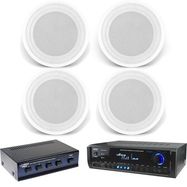Shop Pyle Pt390btu Digital Home Bluetooth Receiver With 4 Pdics82
