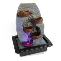 SereneLife SLTWF87LED Water Fountain Relaxing Tabletop Water Feature Decoration