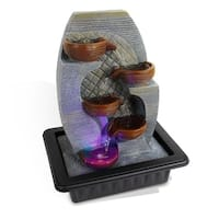 Water Fountain - SLTWF87LED Relaxing Tabletop Water Feature Decoration
