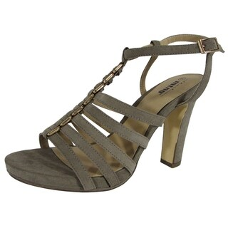 MTNG Mustang Womens 58007 Open Toe Caged Sandal Shoes, Taupe