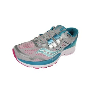 Saucony Women Zealot ISO 3 Neutral Running Shoes, Grey/Blue/Pink (More options available)