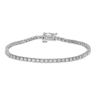 Unending Love 10K Gold 1ct TDW Diamond Miracle Set Tennis Bracelet
