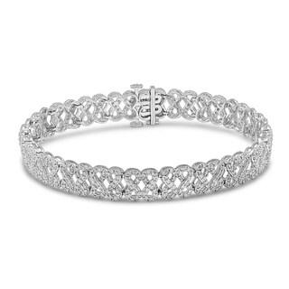 Unending Love 10K White Gold 2.5ct TDW Diamond Fashion Tennis Bracelet