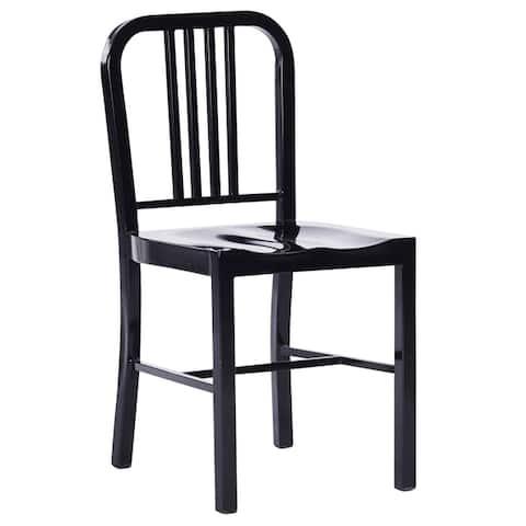 Industrial Metal Indoor-Outdoor Chair Set of 2