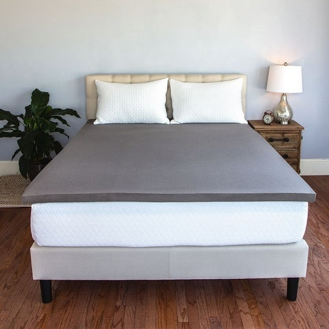 Cozy Home 2-inch Charcoal Air-Fresh Memory Foam Topper