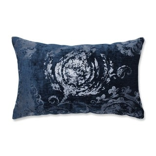 Pillow Perfect Indoor Metallic Suzani Cerulean Rectangular Throw Pillow, 18.5 in. L X 11.5 in. W X 5 in. D