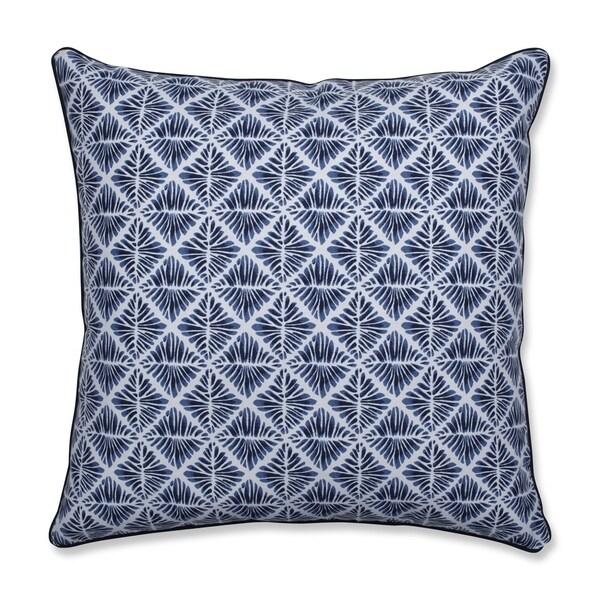 Pillow Perfect Indoor Gem Field Indigo 25-inch Floor Pillow