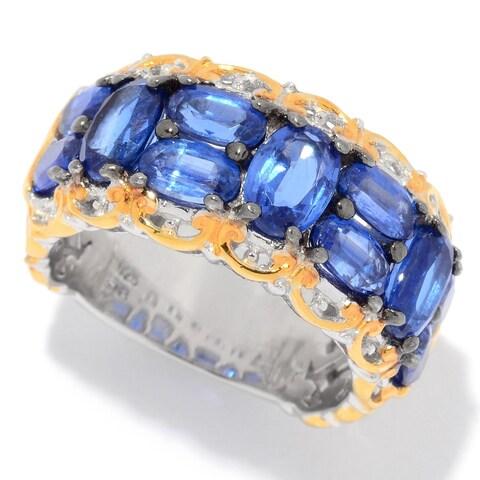 Michael Valitutti Palladium Silver Kyanite 11-Stone Band Ring