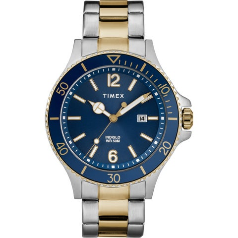 Timex Men's TW2R64700 Harborside Two-Tone/Blue Stainless Steel Bracelet Watch - N/A - N/A