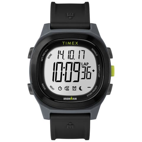 Timex Men's TW5M18900 Ironman Transit Full-Size Black Resin Strap Watch