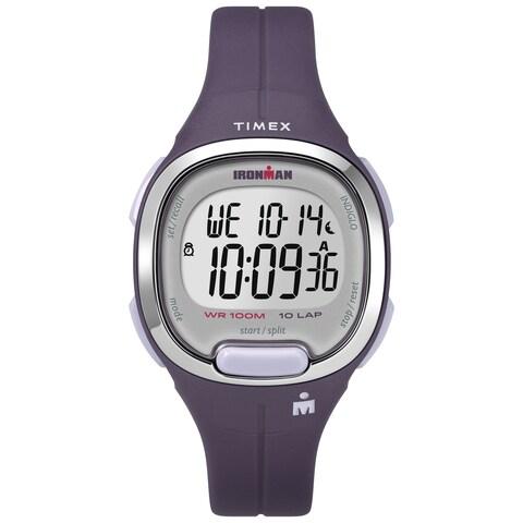 Timex Women's TW5M19700 Ironman Transit Mid-Size Purple/Silver-Tone Resin Strap Watch - N/A - N/A