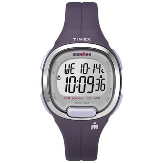 Timex Women's TW5M19700 Ironman Transit Mid-Size Purple/Silver-Tone Resin Strap Watch - N/A - N/A