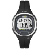 Timex Women's TW5M19600 Ironman Transit Mid-Size Black/Silver-Tone Resin Strap Watch - N/A - N/A