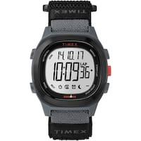 Timex Men's TW5M19300 Ironman Transit Full-Size Black/Red Fast Wrap Watch