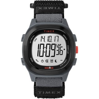 Timex Men's TW5M19300 Ironman Transit Full-Size Black/Red Fast Wrap Watch
