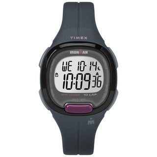 Timex Women's TW5M20000 Ironman Transit Mid-Size Gray/Purple Resin Strap Watch - N/A - N/A