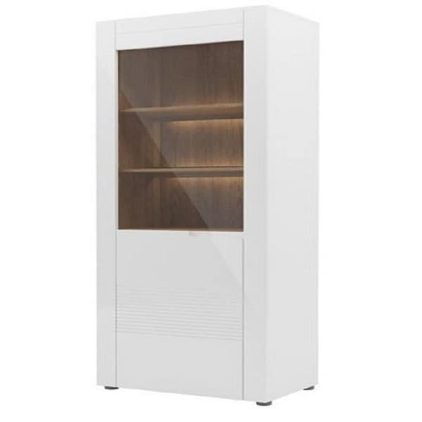 Belfort High Gloss Wood Finish And Gl Display Cabinet On Free Shipping Today 22550931