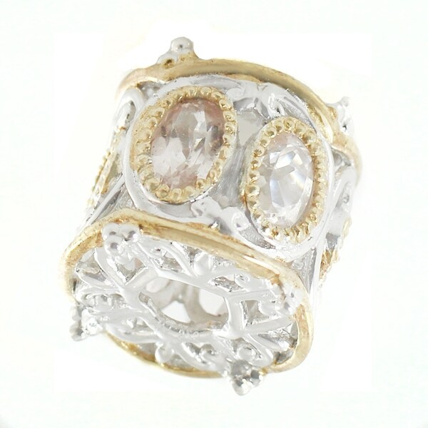 Michael Valitutti Palladium Silver Oval Morganite Charm