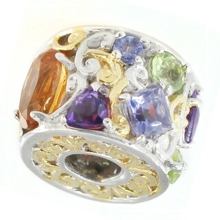Michael Valitutti Palladium Silver Garnet, Citrine & Multiple Gemstones Charm