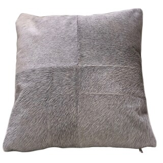 ESEL Grey Cowhide Double-sided Pillow