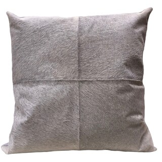 Grey Cow Hide Flannel Euro Pillow