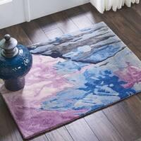 """Nourison Prismatic Grey/Multicolor Abstract Area Rug - Grey/Multi - 2'3"""" x 3'"""