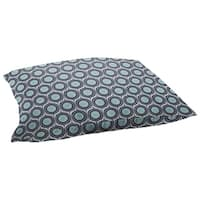 Scott Living Property Brothers Vogue Cyan Taupe Rectangle Floor Pillow