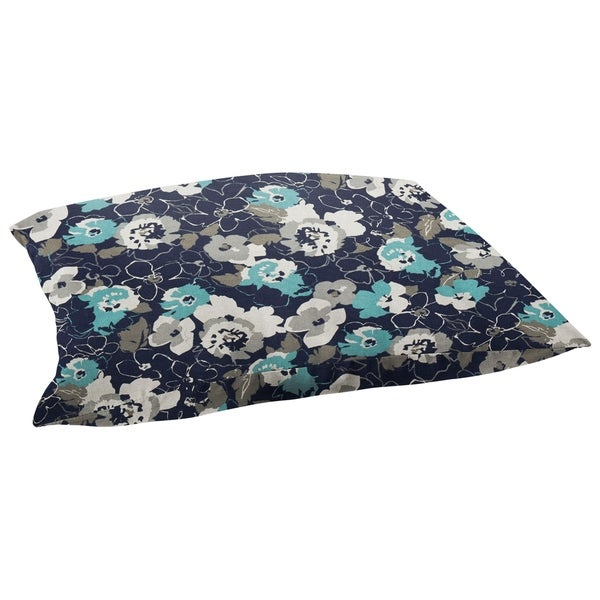 Scott Living Property Brothers Botanic Cyan Rectangle Floor Pillow