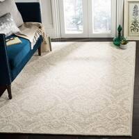 Safavieh Handmade Blossom Modern & Contemporary Silver / Ivory Wool Rug - 8' x 10'