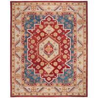 Safavieh Handmade Antiquity Traditional Red / Blue Wool Rug - 8' x 10'