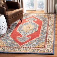 Safavieh Handmade Antiquity Traditional Blue / Red Wool Rug - 8' x 10'