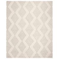 Safavieh Handmade Blossom Modern & Contemporary Ivory / Silver Wool Rug - 8' x 10'
