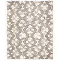Safavieh Handmade Blossom Modern & Contemporary Dark Grey / Ivory Wool Rug - 8' x 10'