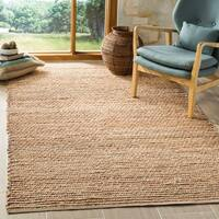 Safavieh Hand-Woven Cape Cod Modern & Contemporary Natural / Blue Jute Rug - 8' x 10'