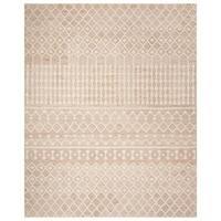 Safavieh Handmade Blossom Modern & Contemporary Beige / Ivory Wool Rug - 8' x 10'
