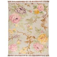 Safavieh Hand-Knotted Kenya Transitional Pink / Grey Wool Rug - 9' x 12'